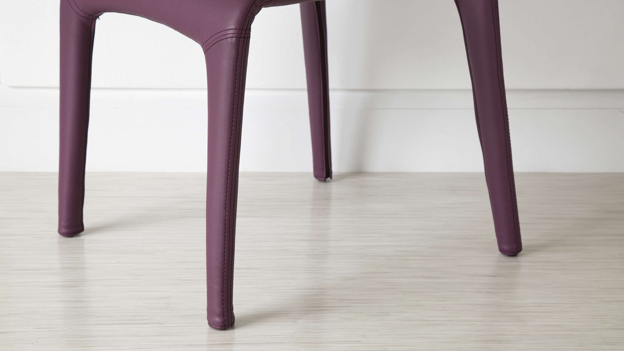 Modern Dining Chair Purple Faux Leather