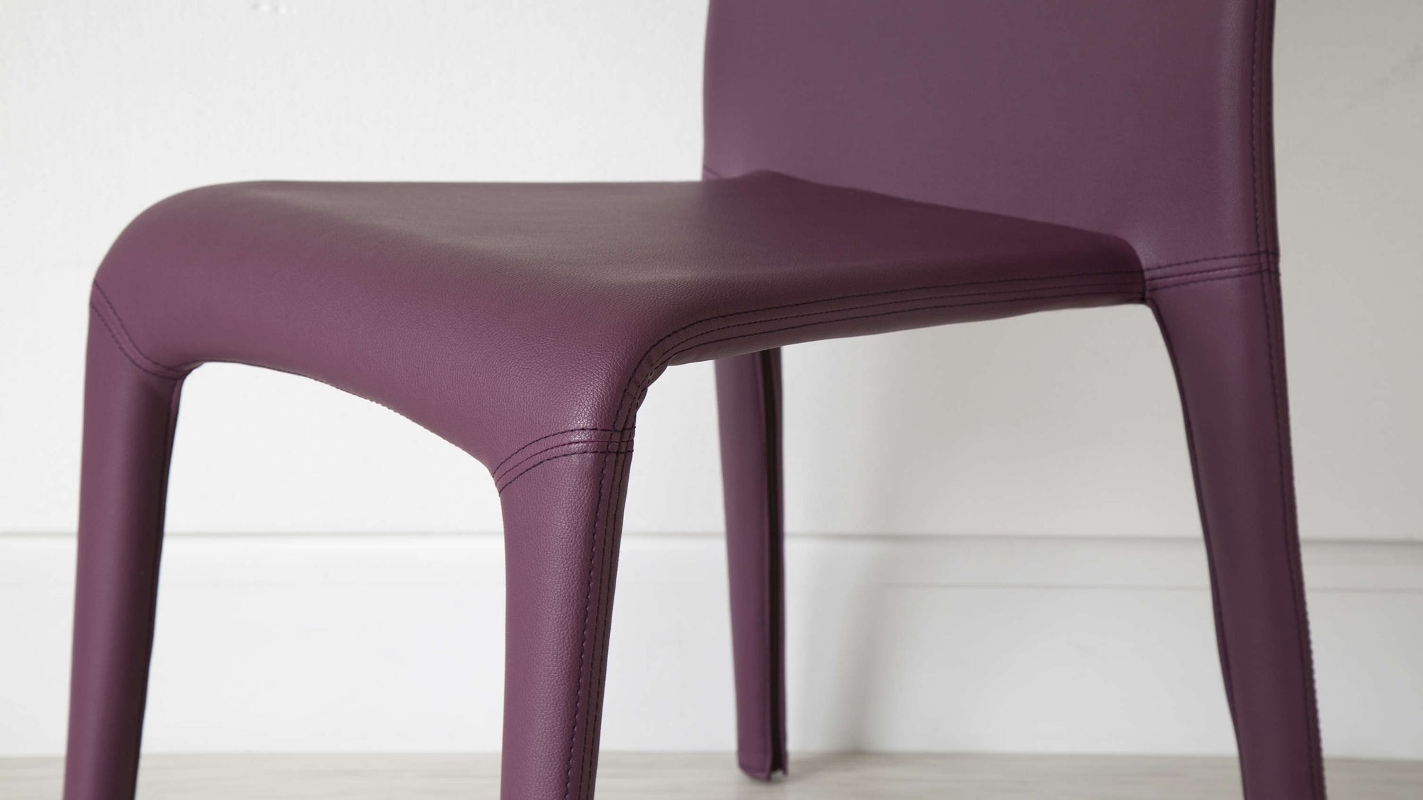 Modern Purple Dining Chair Faux Leather