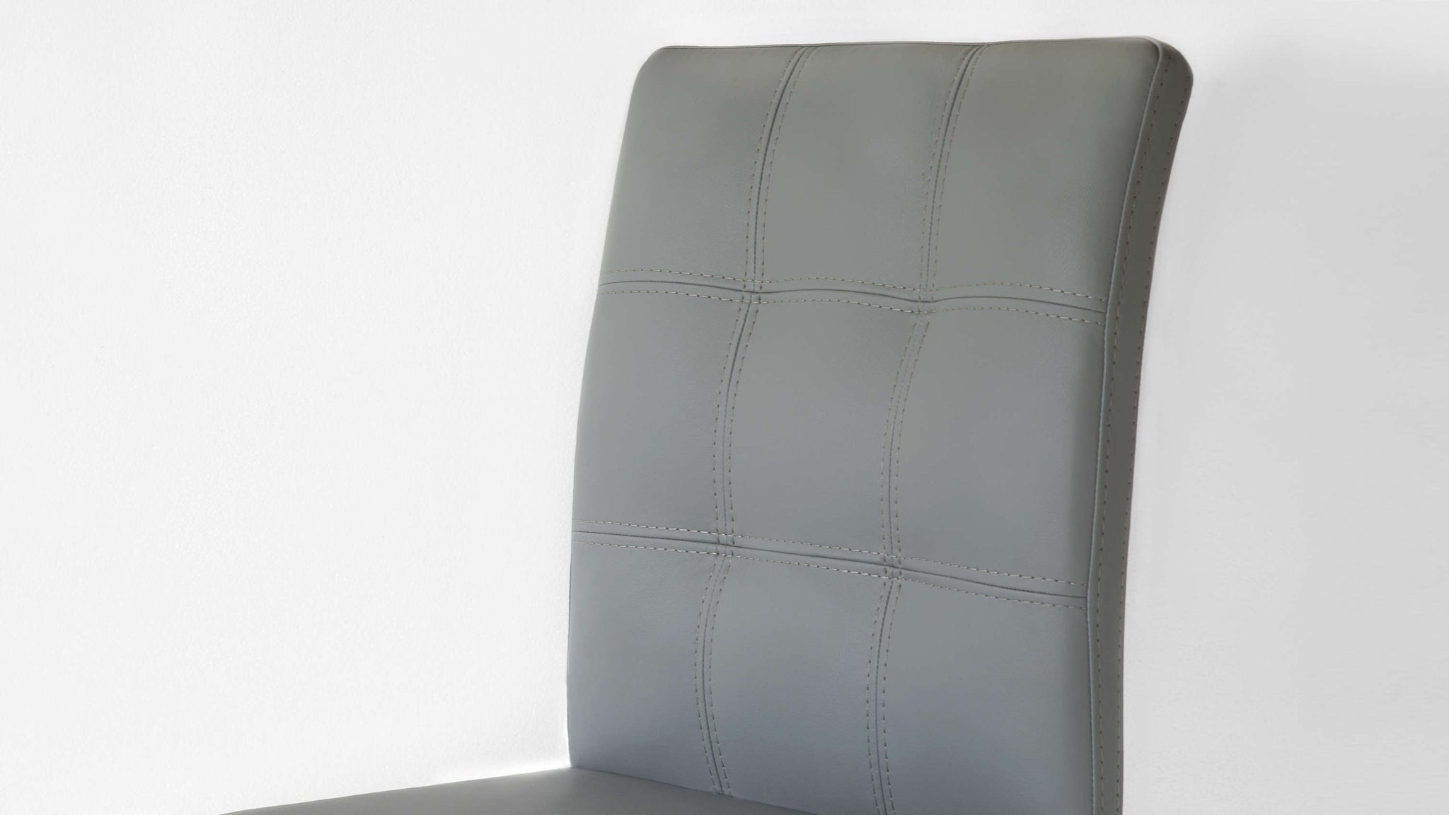 Quilted Light Grey Dining Chairs