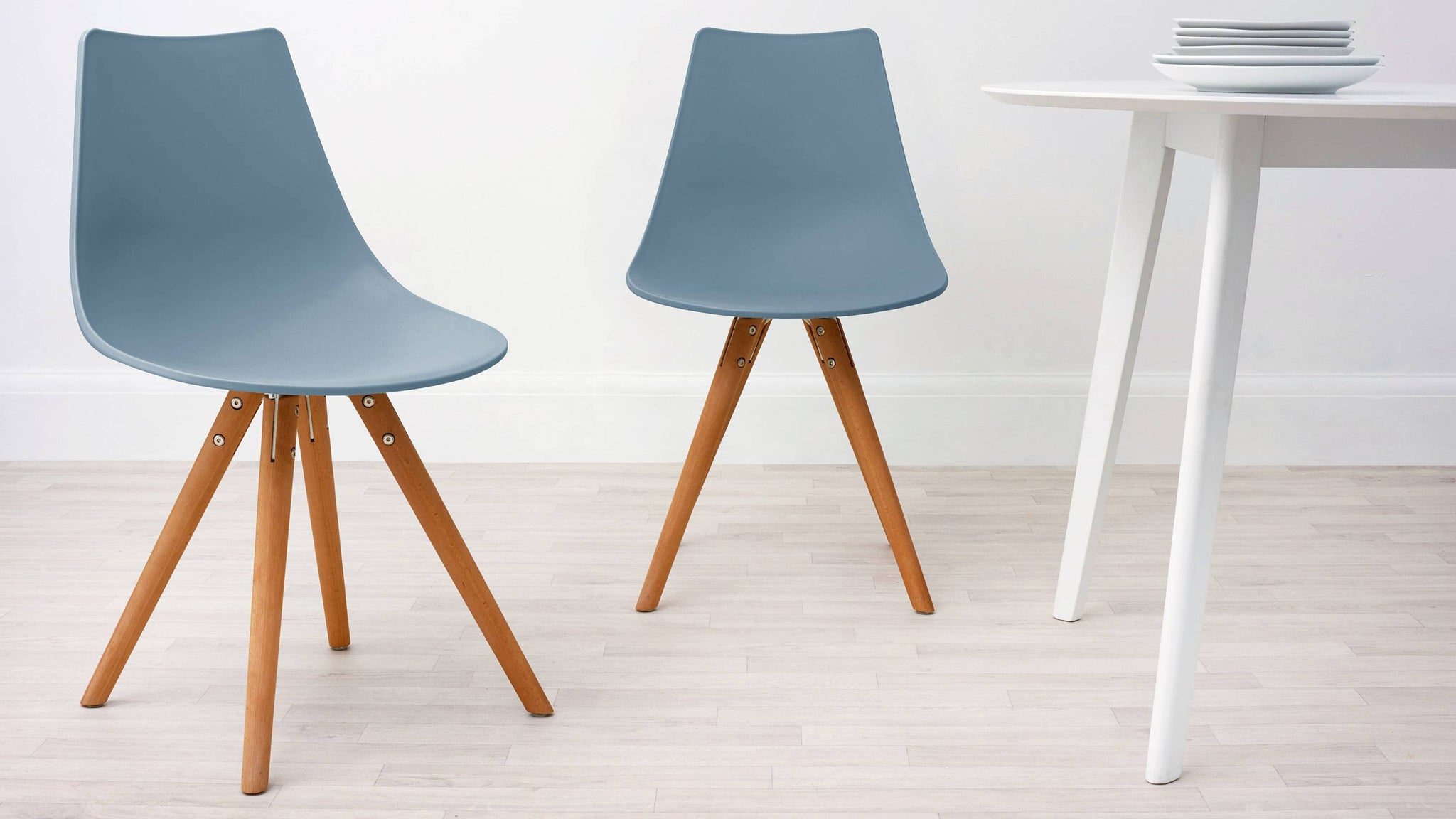 Steel Blue Modern Plastic Dining Chair