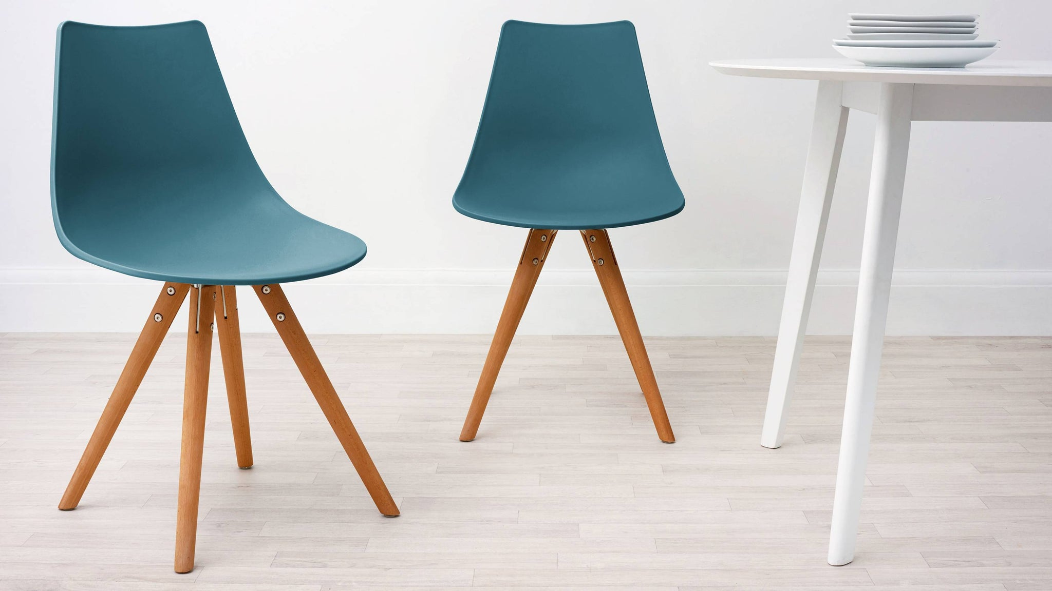 Teal Modern Plastic Dining Chair
