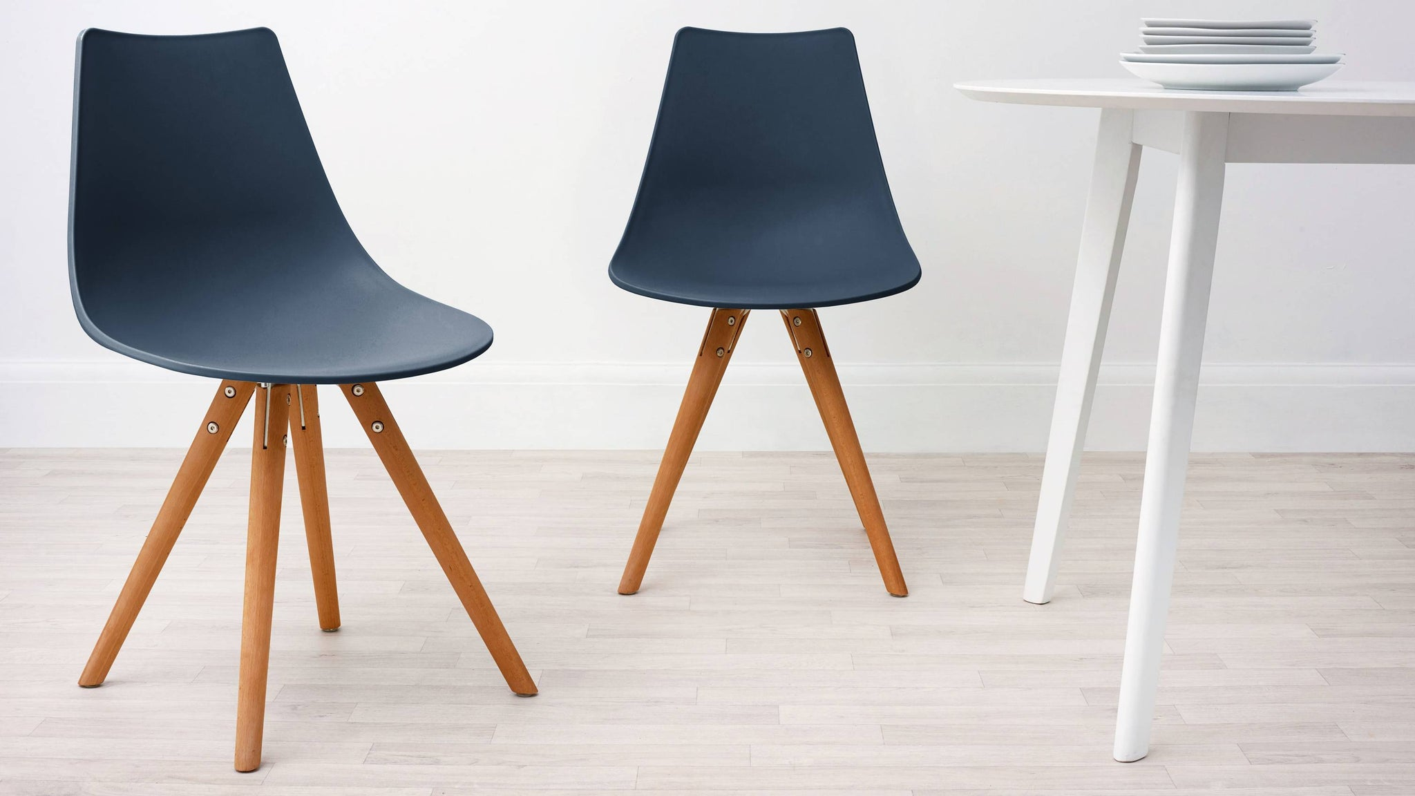 Navy Blue Modern Plastic Dining Chair