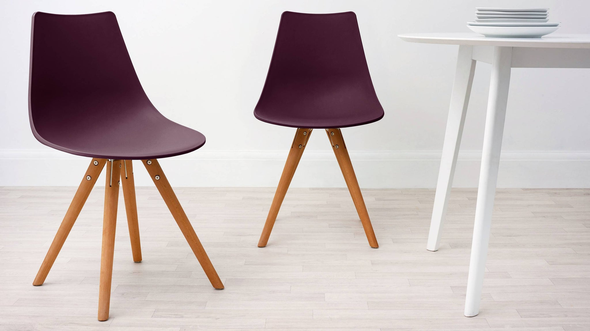 Mulberry Purple Modern Plastic Dining Chair