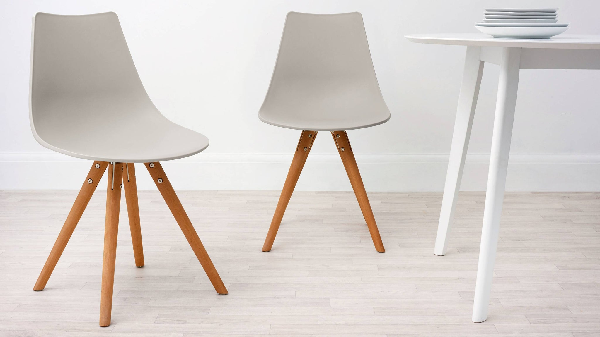 Taupe Grey Modern Plastic Dining Chair