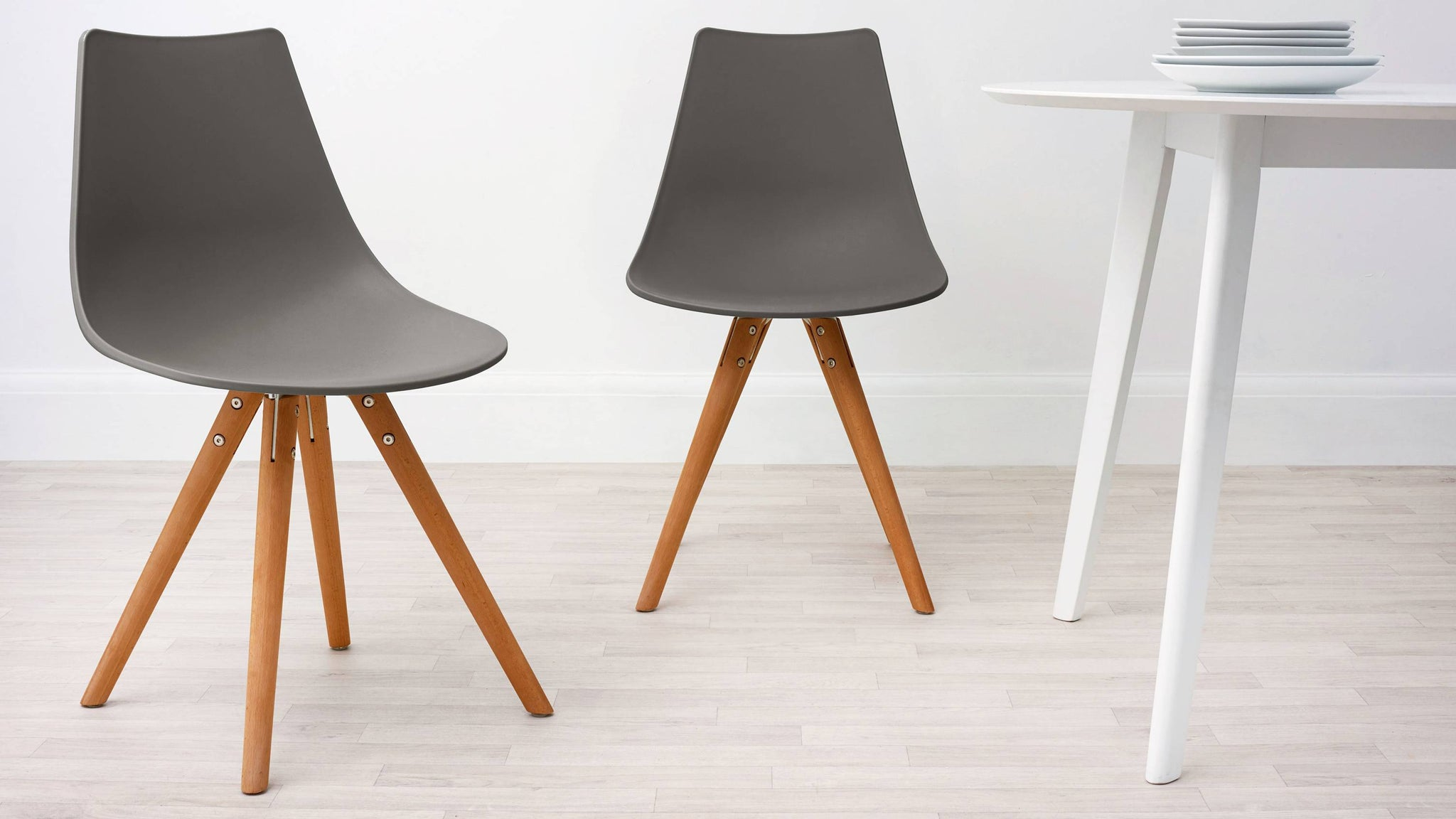 Taupe Modern Plastic Dining Chair