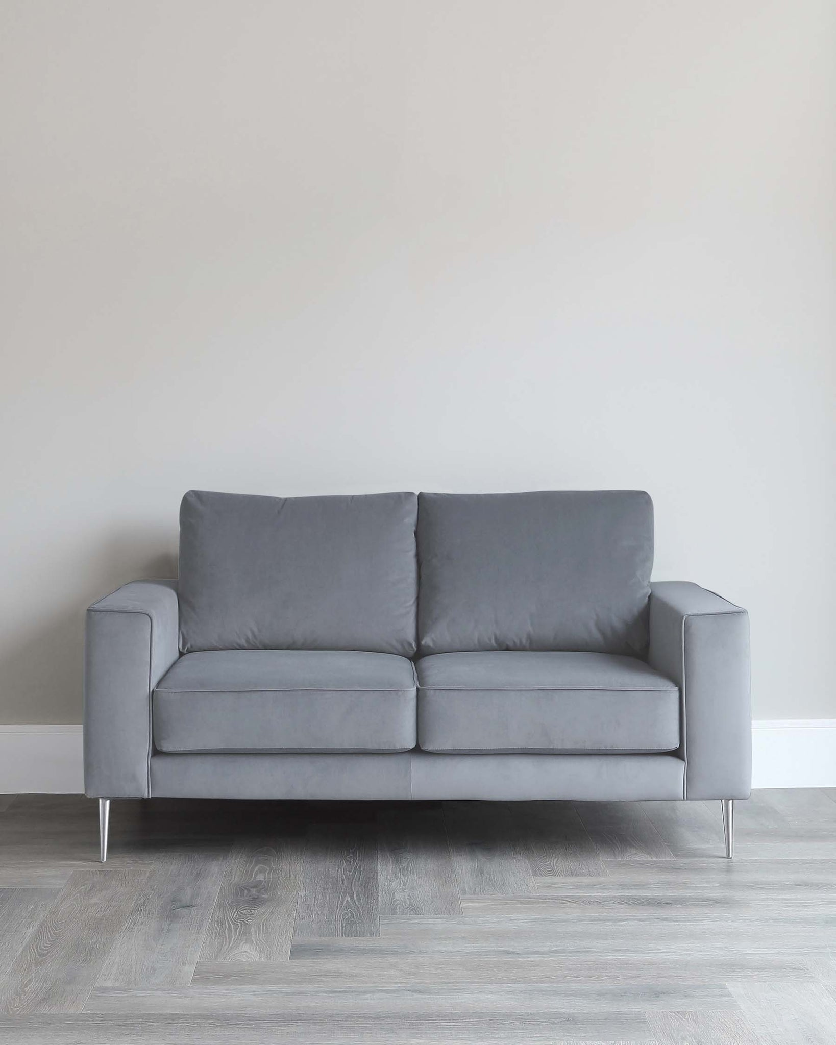 Bailey 2 Seater Grey Velvet Sofa