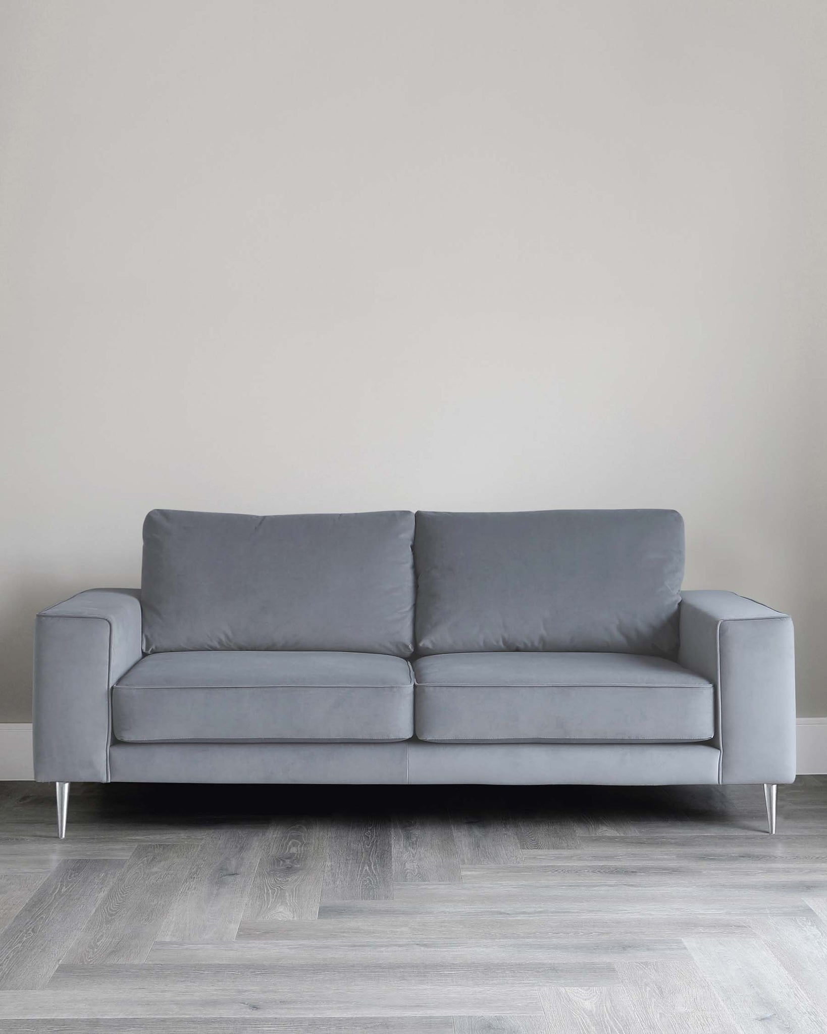 Bailey 3 Seater Grey Velvet Sofa