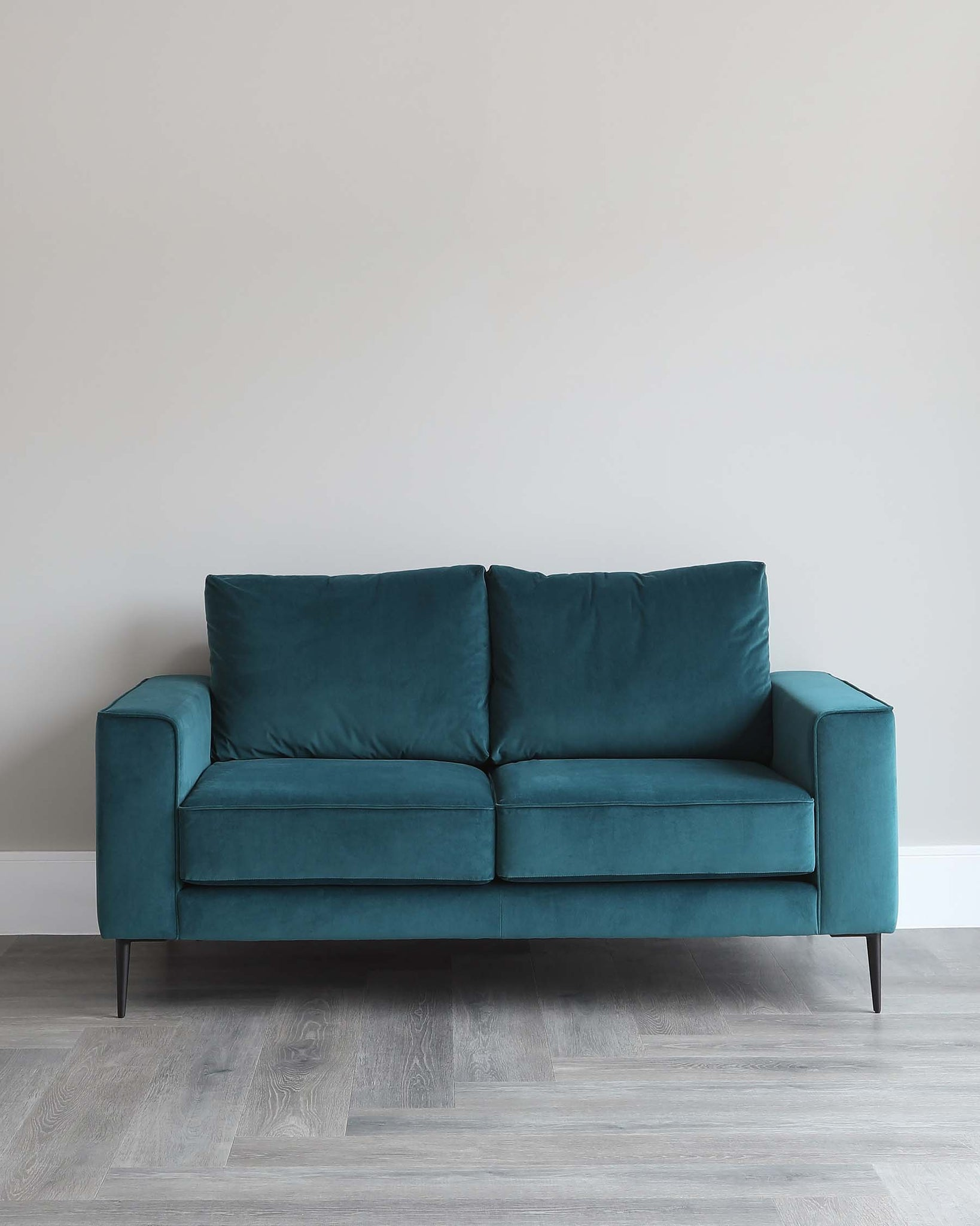 Bailey 2 Seater Teal Velvet Sofa