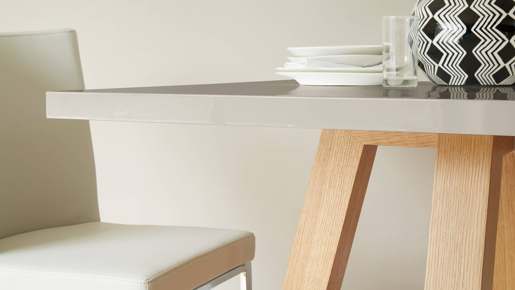 Exclusively Danetti with Julia Kendell grey and wood dining table