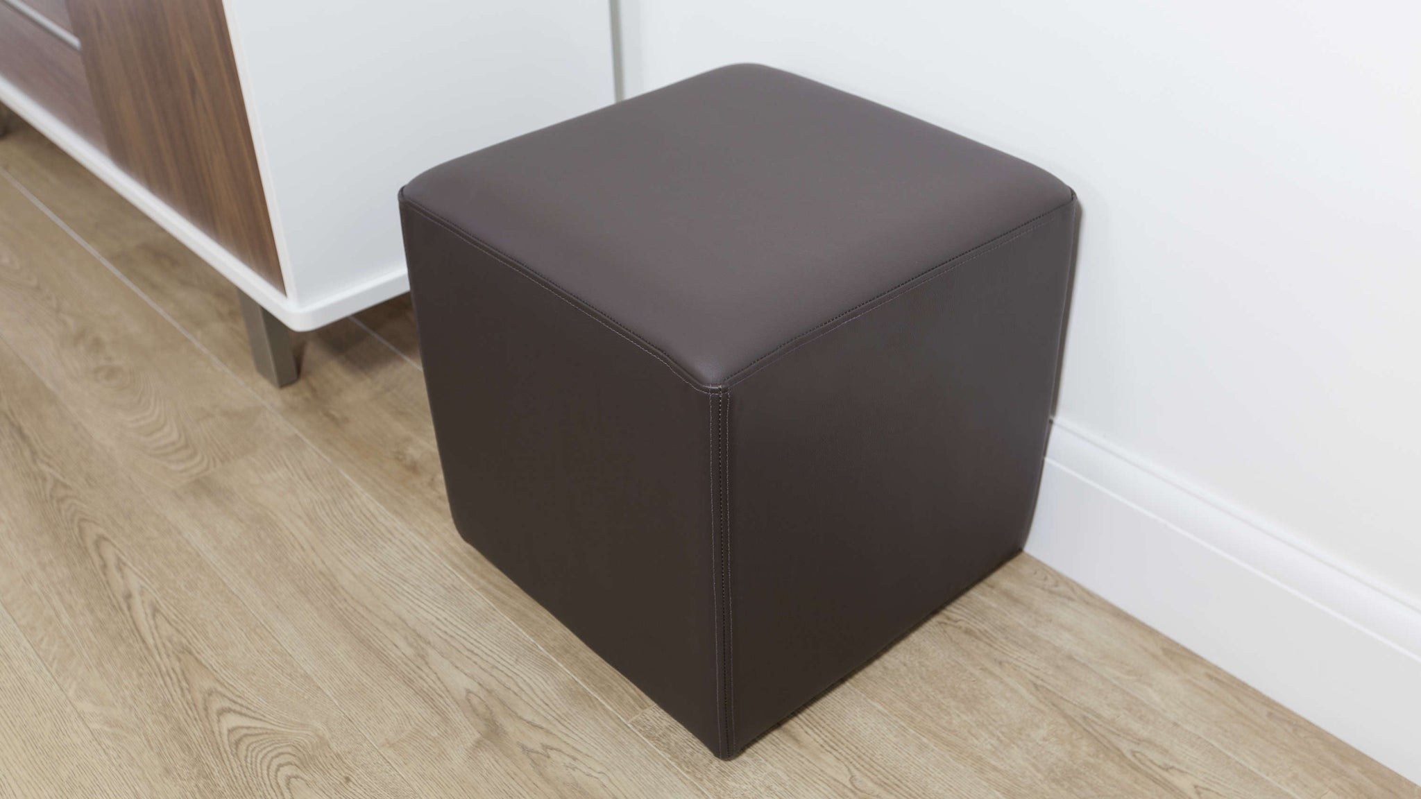 Comfortable Brown Leather Stool