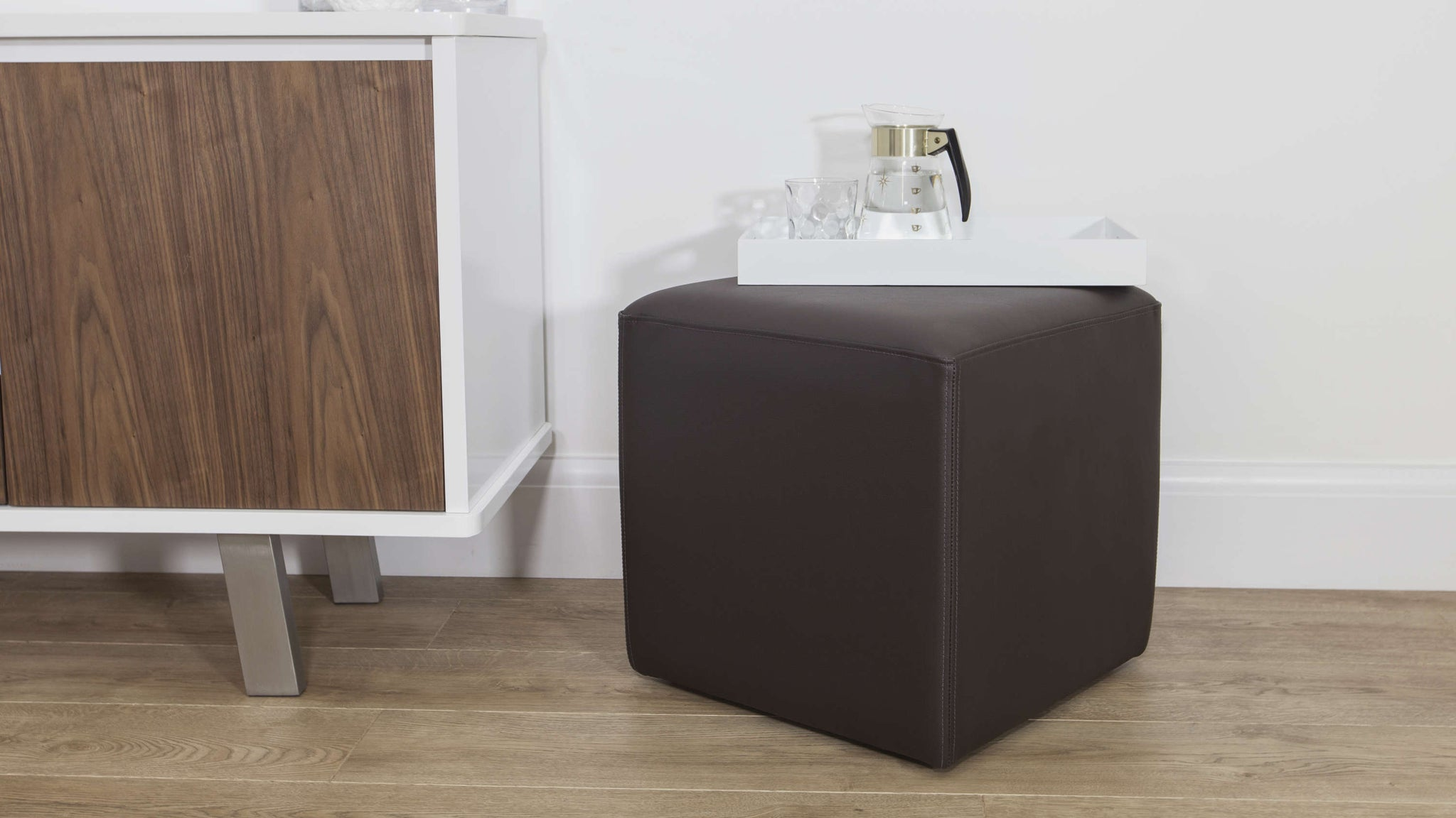 Brown Leather Cube