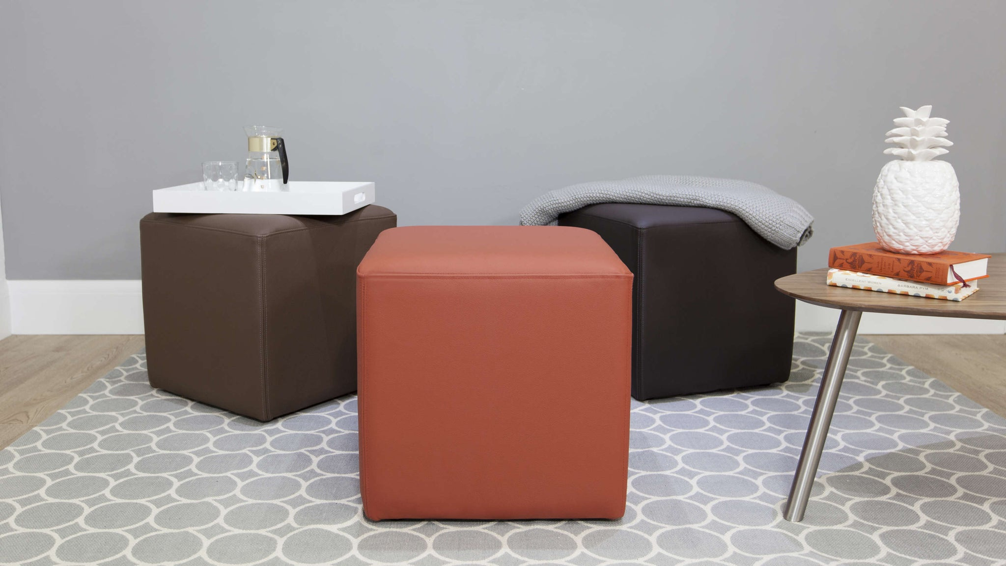 Colourful Cube Stools
