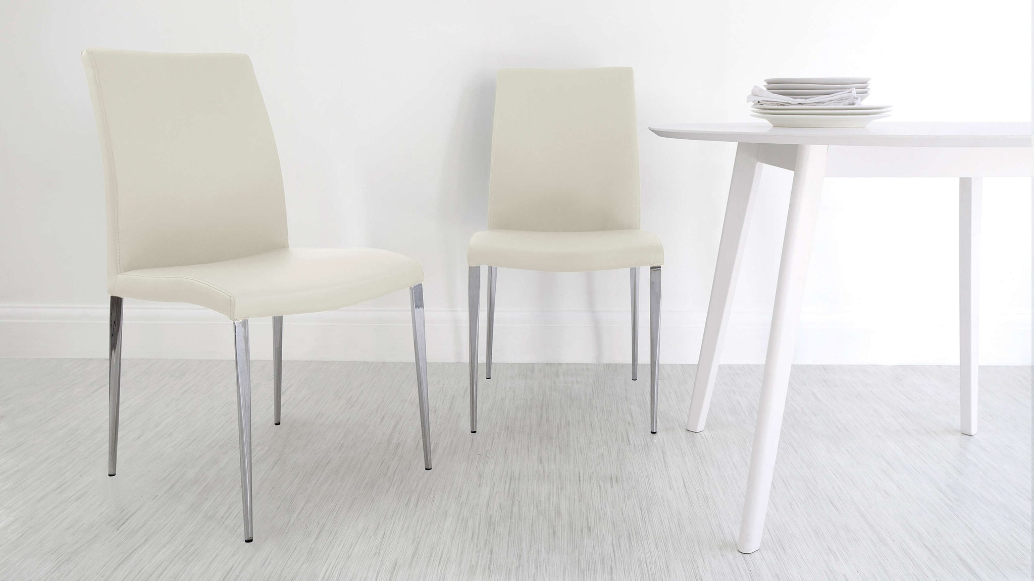 Modern Light Cream Dining Chairs