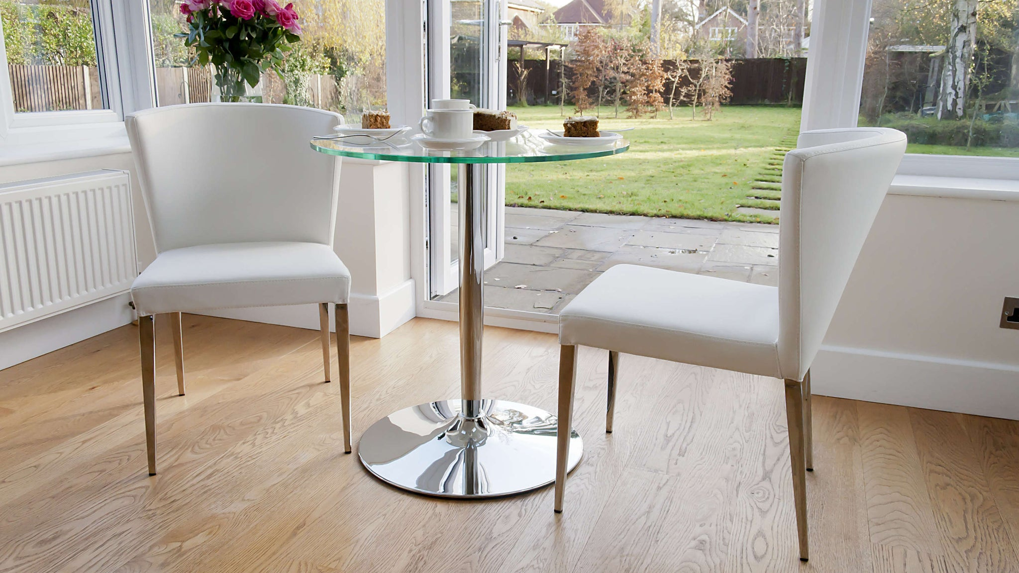 White Faux Leather Dining Chairs UK Delivery