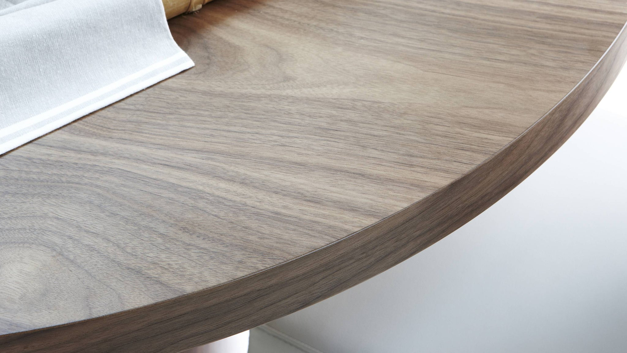 Chrome Legged Dining Chairs with Walnut Dining Table