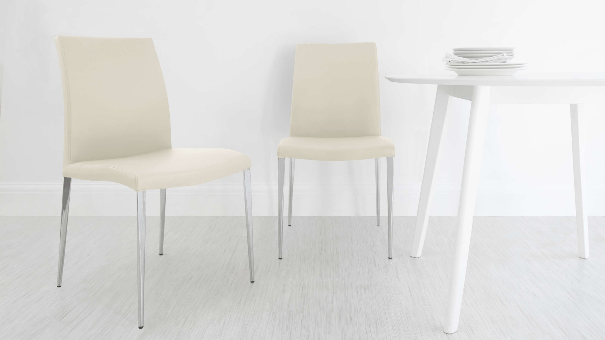 Stylish Cream Dining Chairs