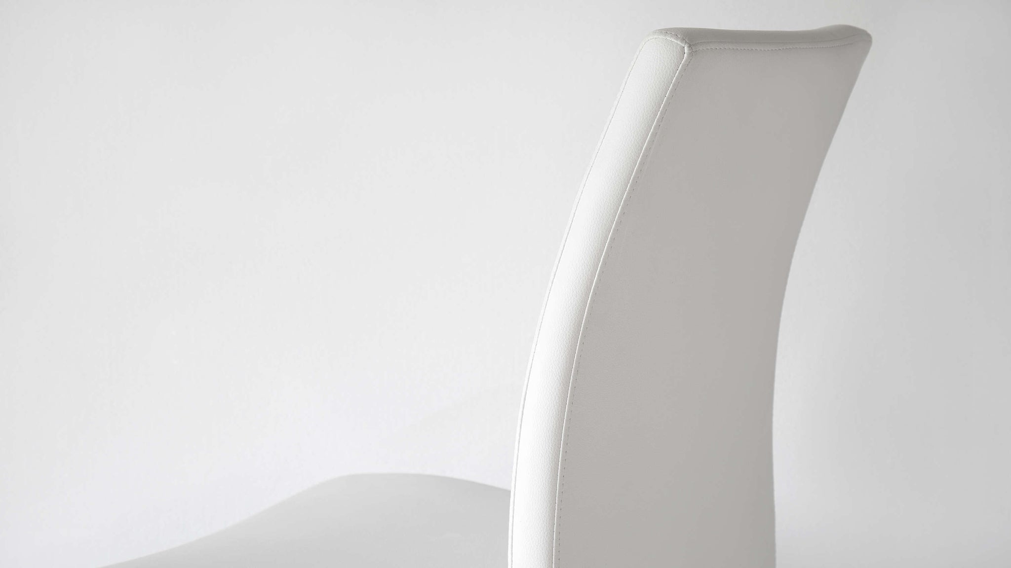 High Backed Dining Chairs in White