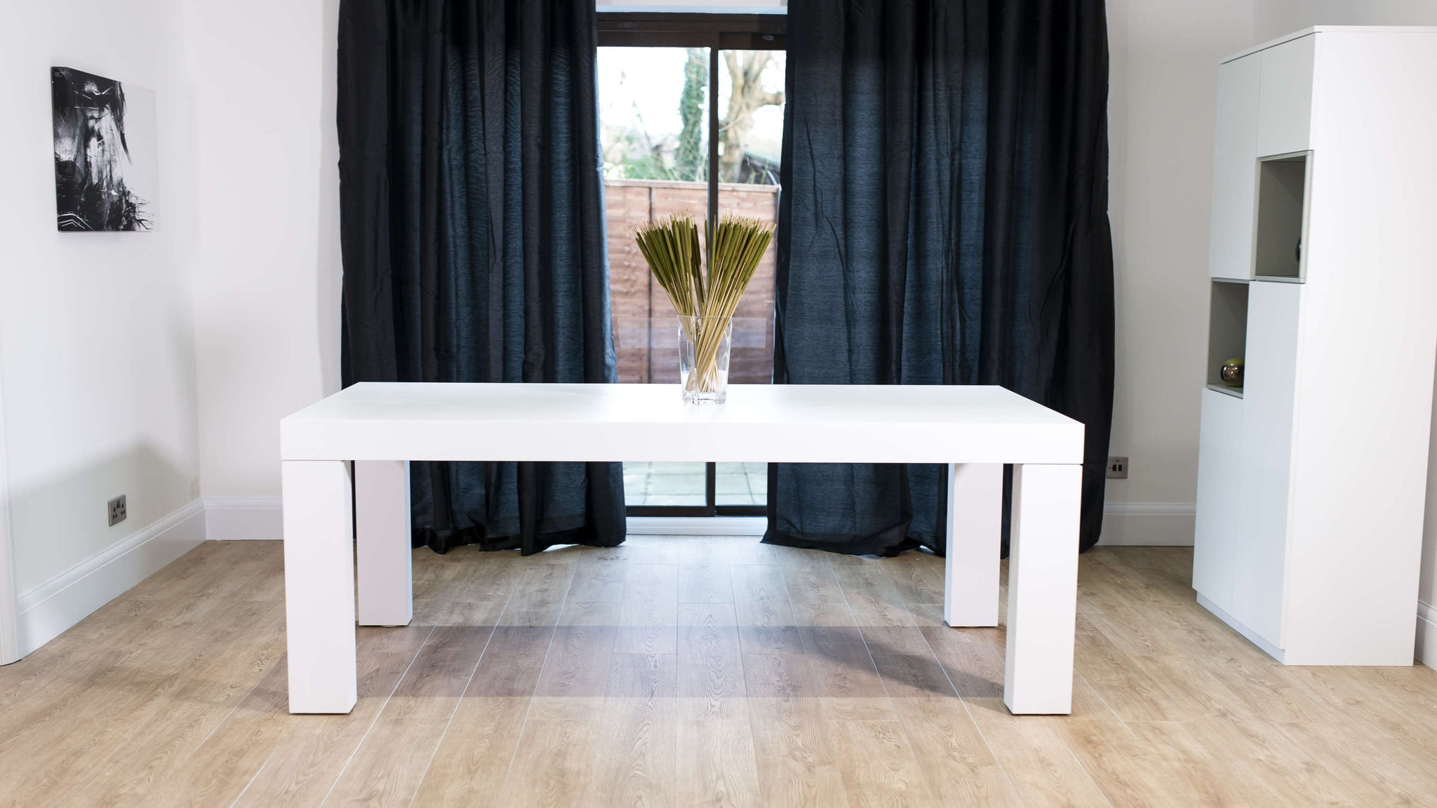 Modern White Wooden Dining Table