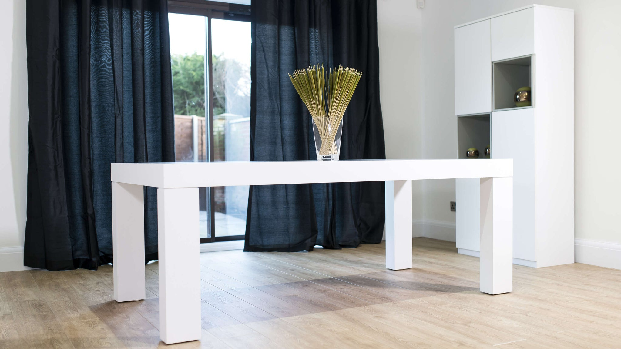 Large Chunky White Dining Table
