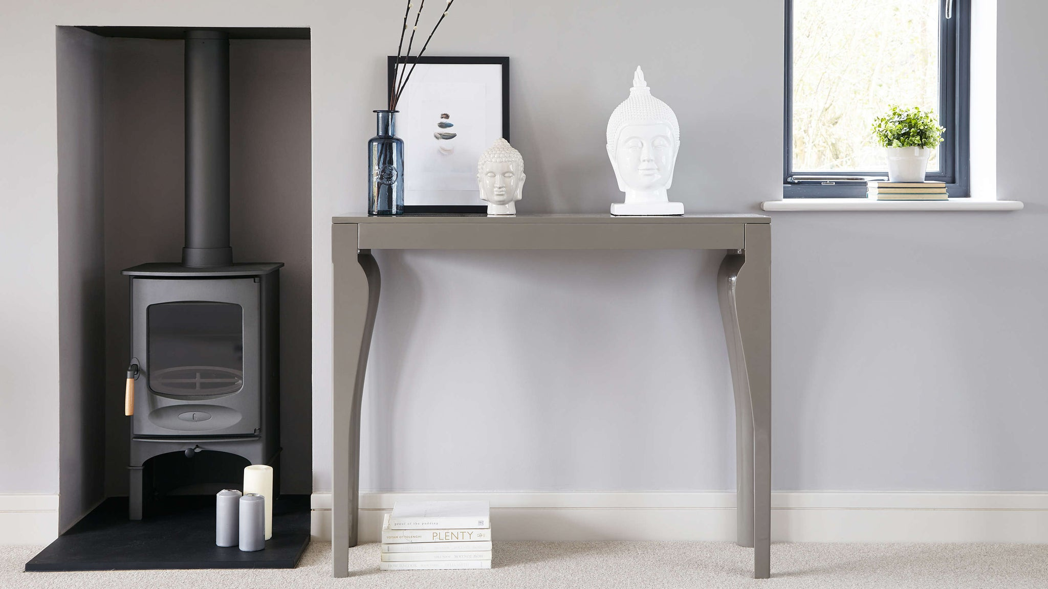 modern Grey console table