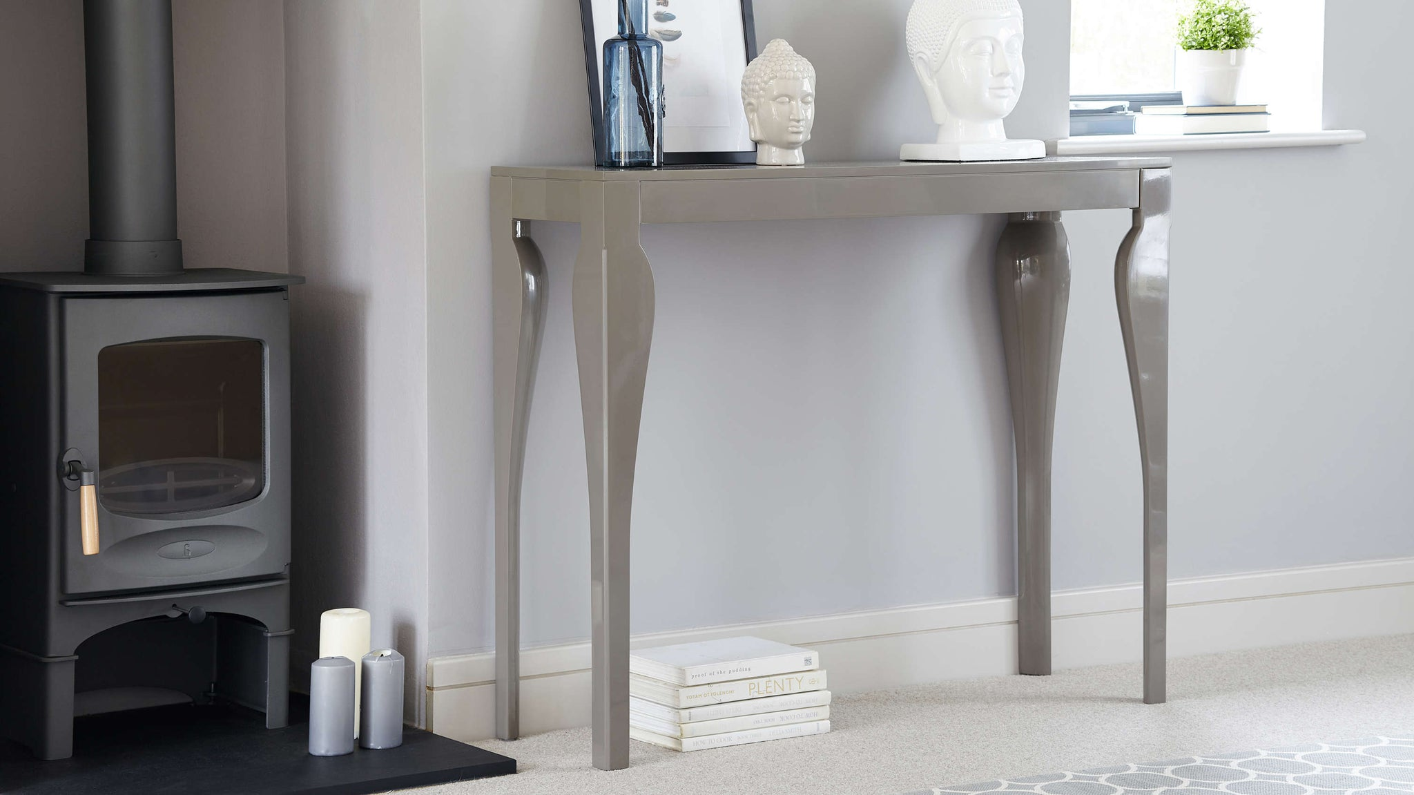 modern Grey gloss console table