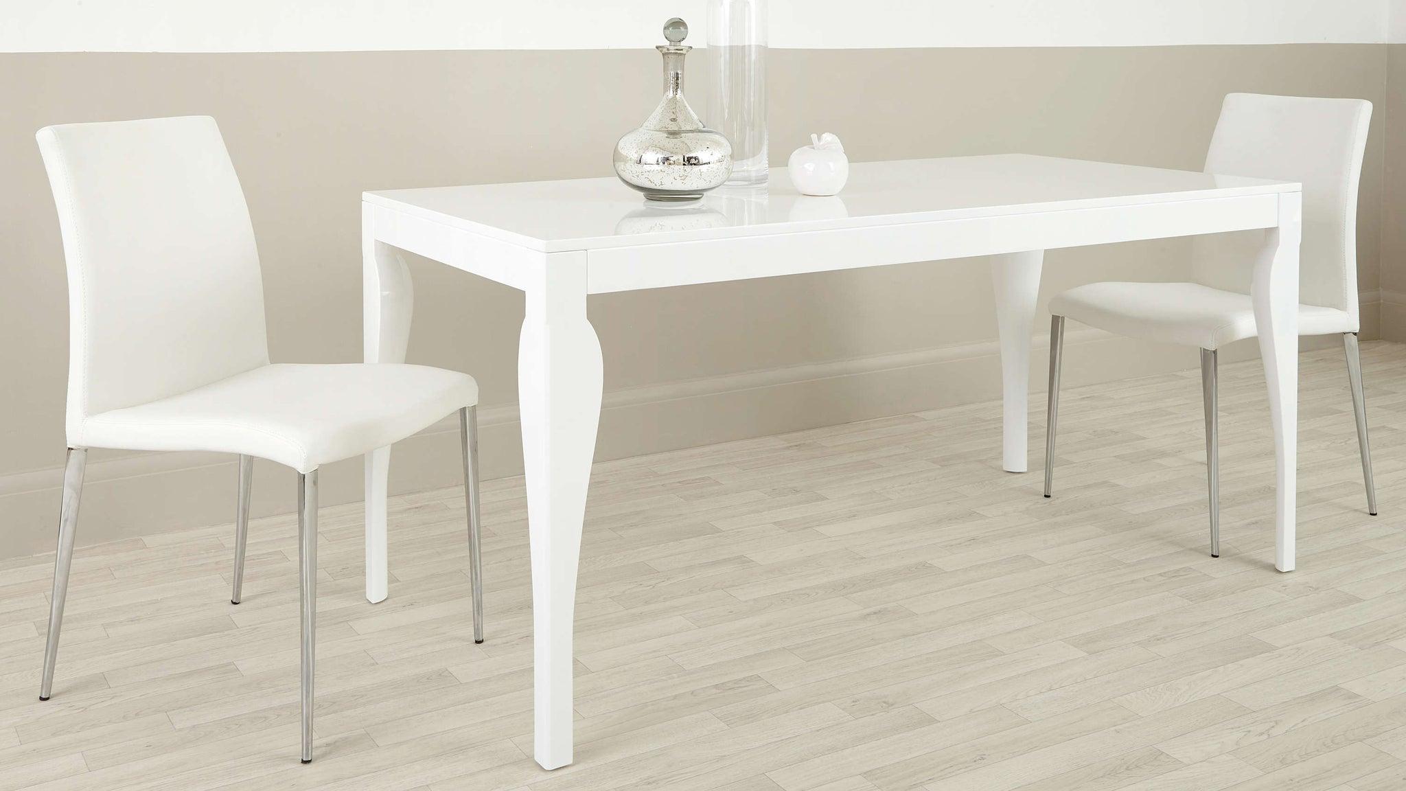 Contemporary White Gloss Dining Table UK