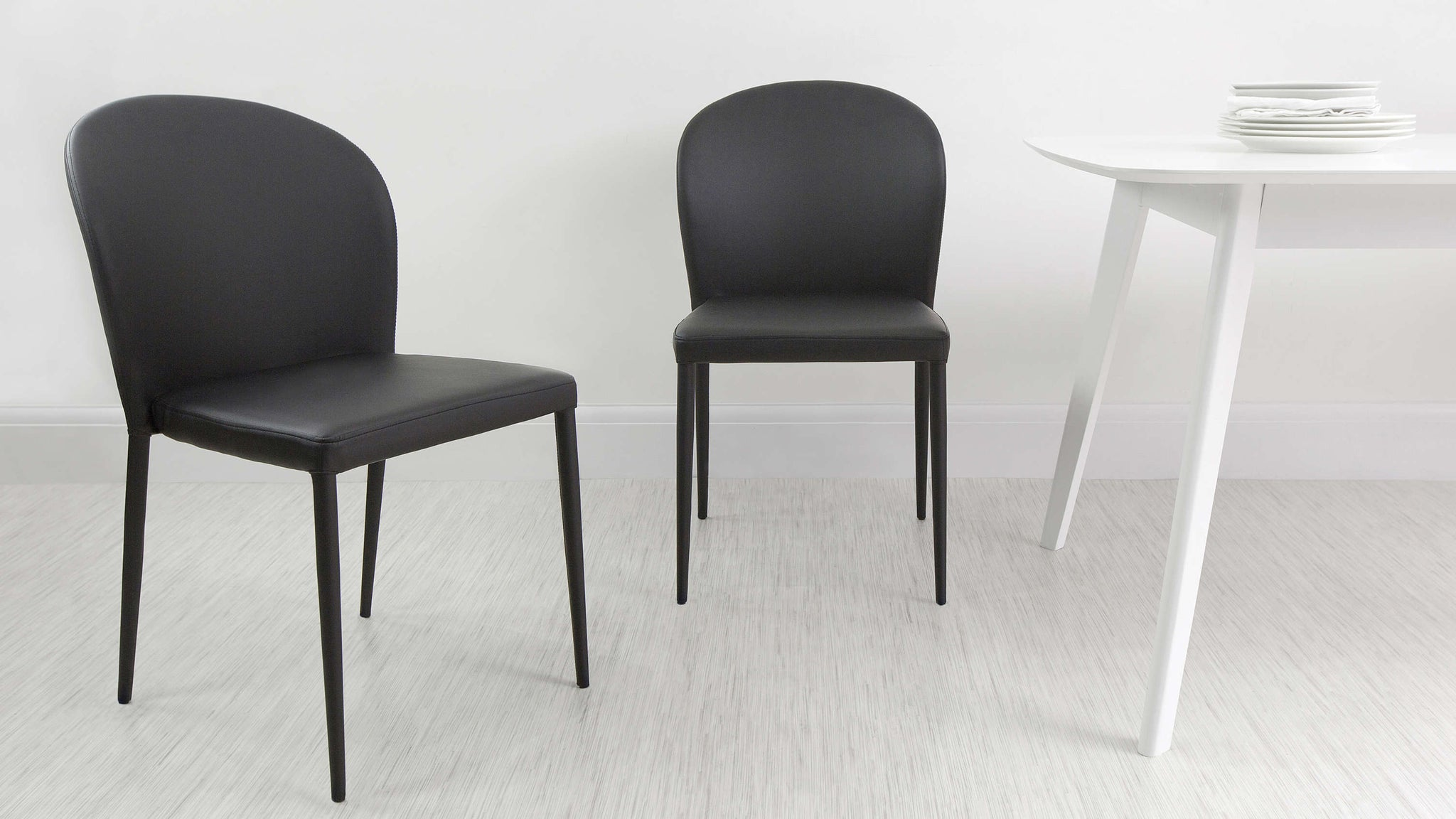 Black Stackable Dining Chairs