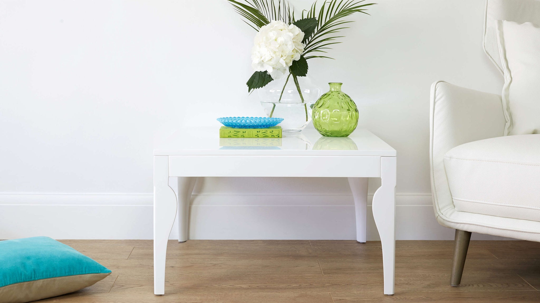 Square White Gloss Coffee Table