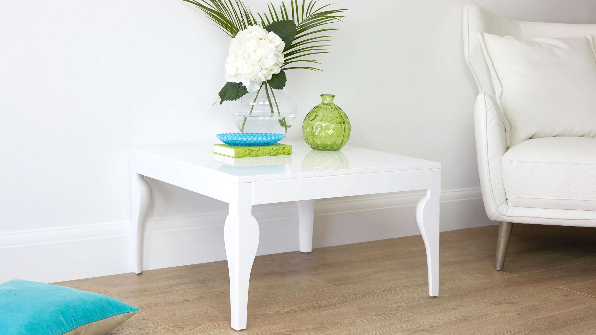 Small Modern White Gloss Coffee Table