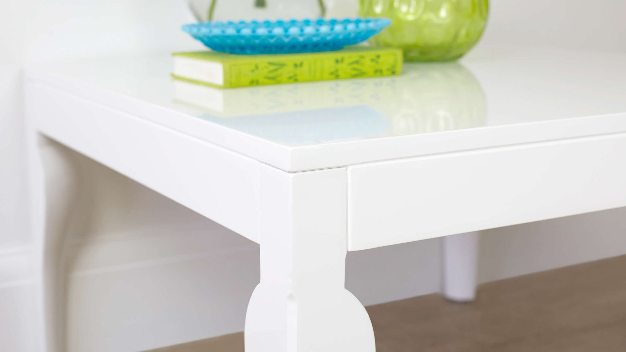 Contemporary White Gloss Small Coffee Table