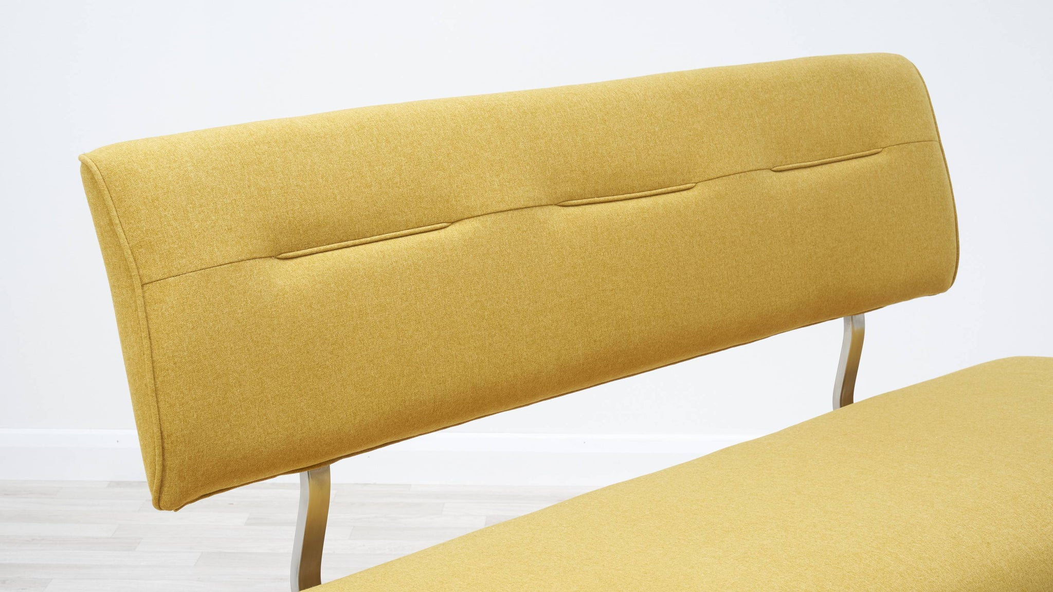 Yellow dining bench