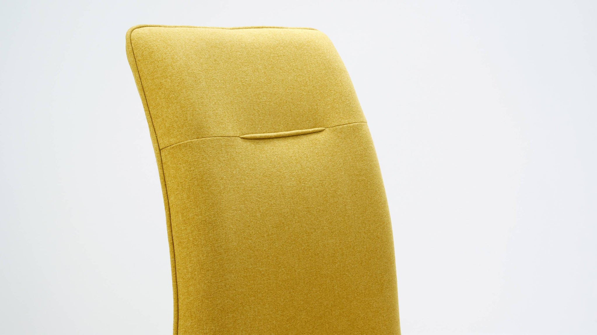 Yellow fabric dining chair