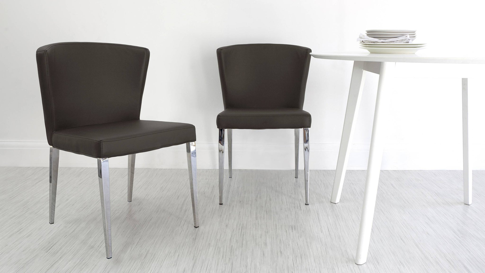 Contemporary Brown Dining Chairs
