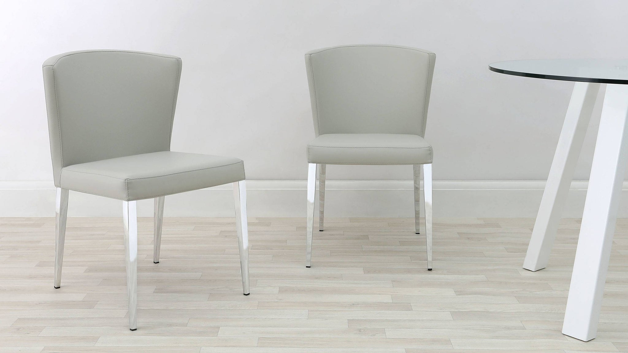Contemporary Grey Dining Chairs