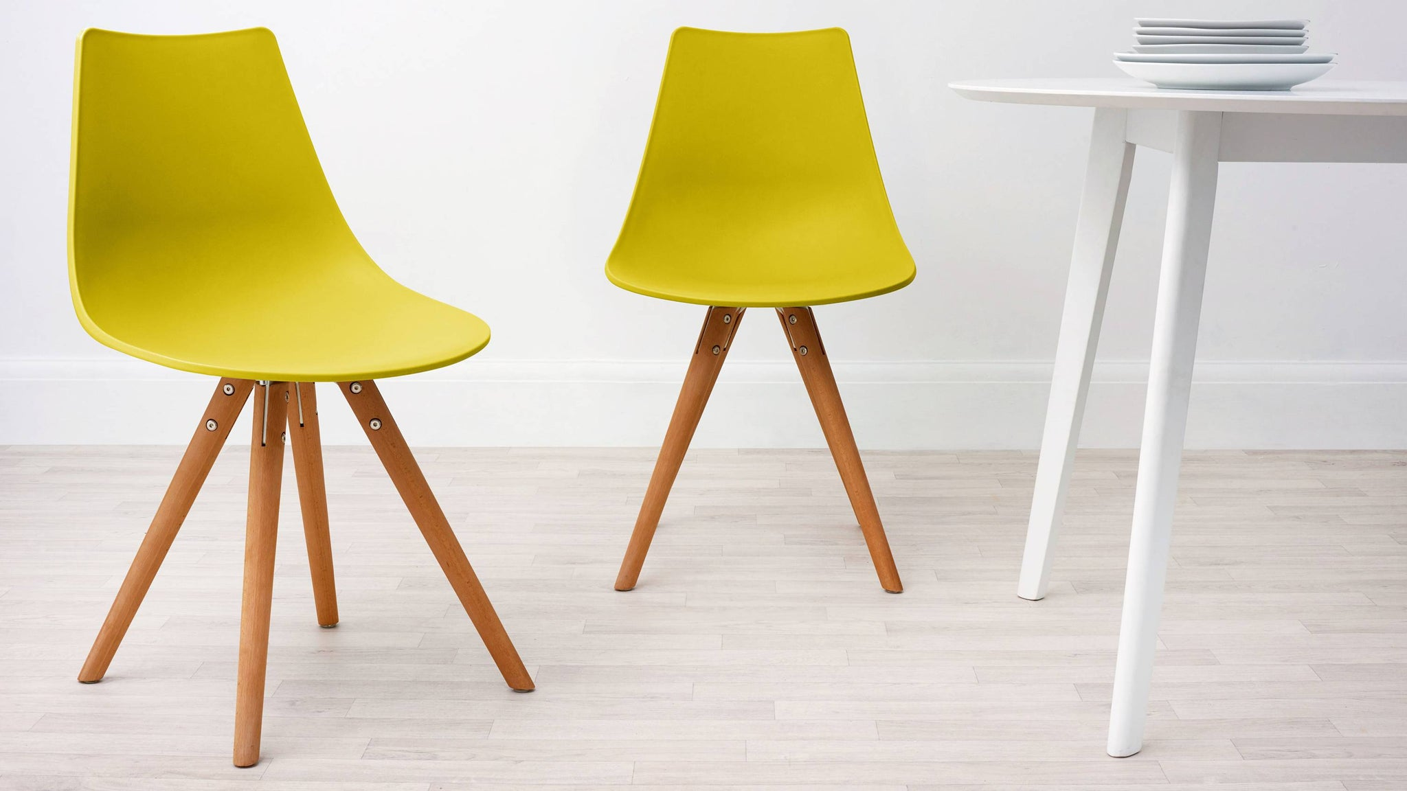 Mustard yellow dining chair