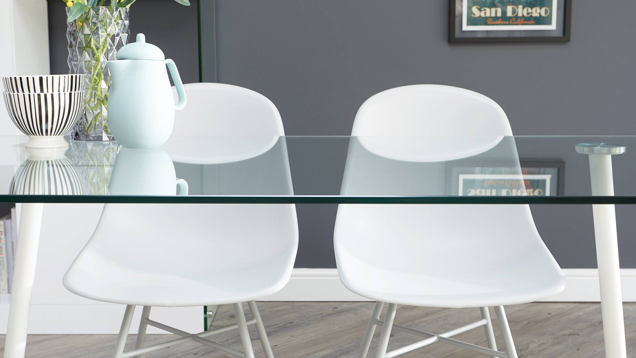 Buy modern plastic dining chairs