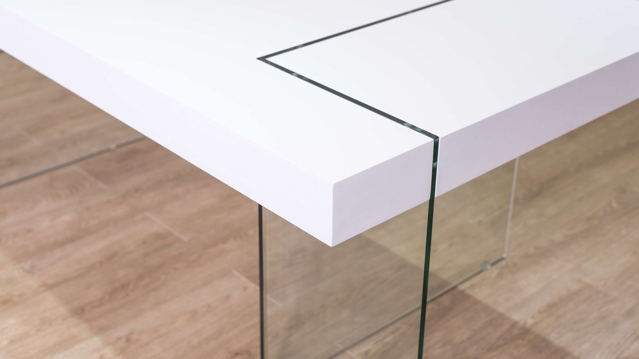 Dining Table with Glass Legs