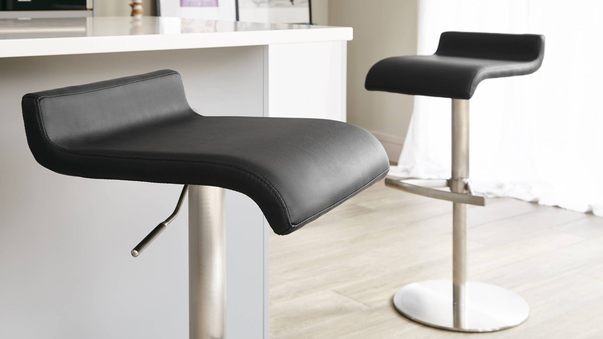Contemporary Grey Bar Stools
