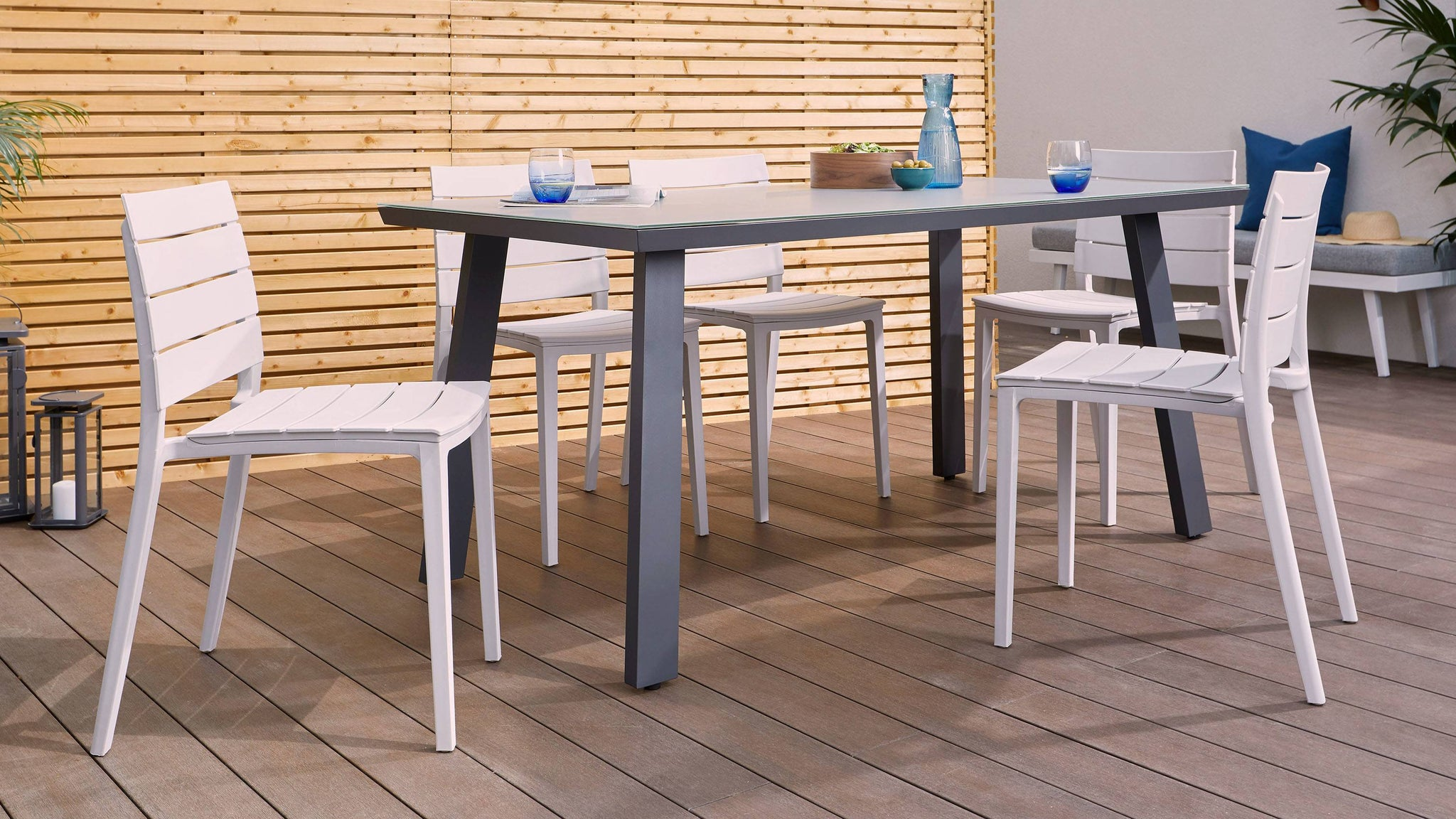 6-8 seater garden table set