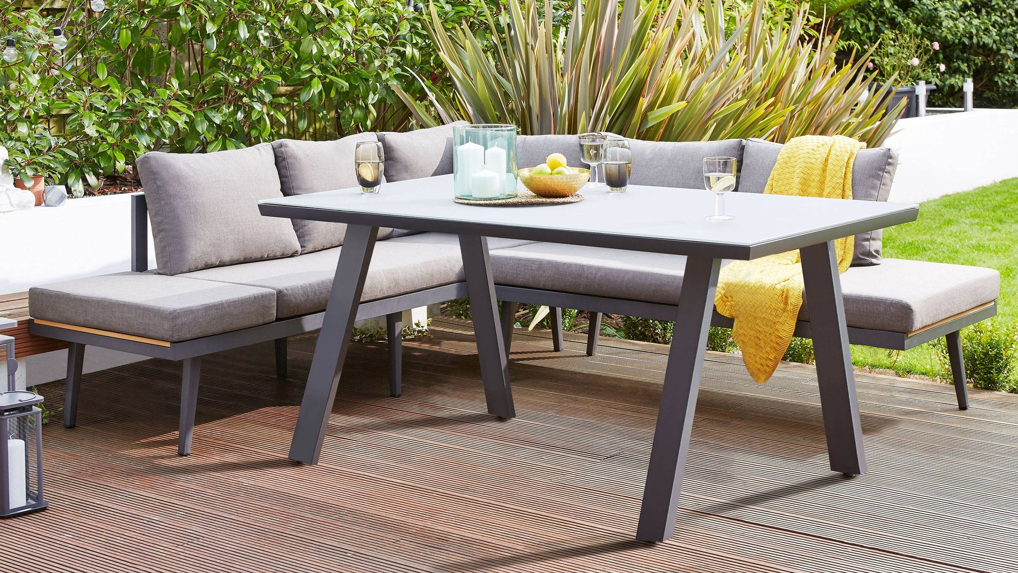 Dark grey outdoor table