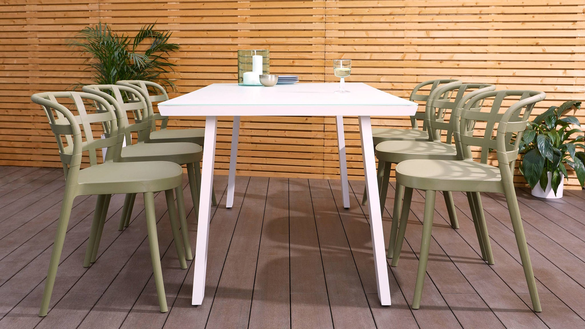 Modern 6-8 seater dining table set