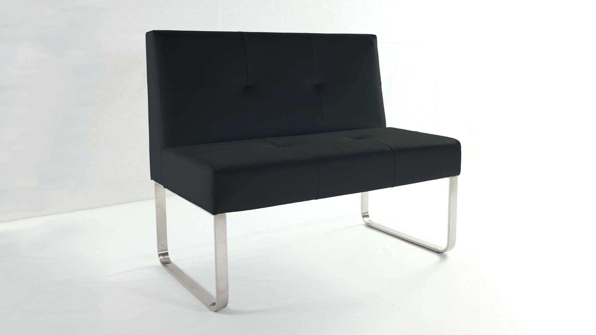 Comfortable Black Dining Bench