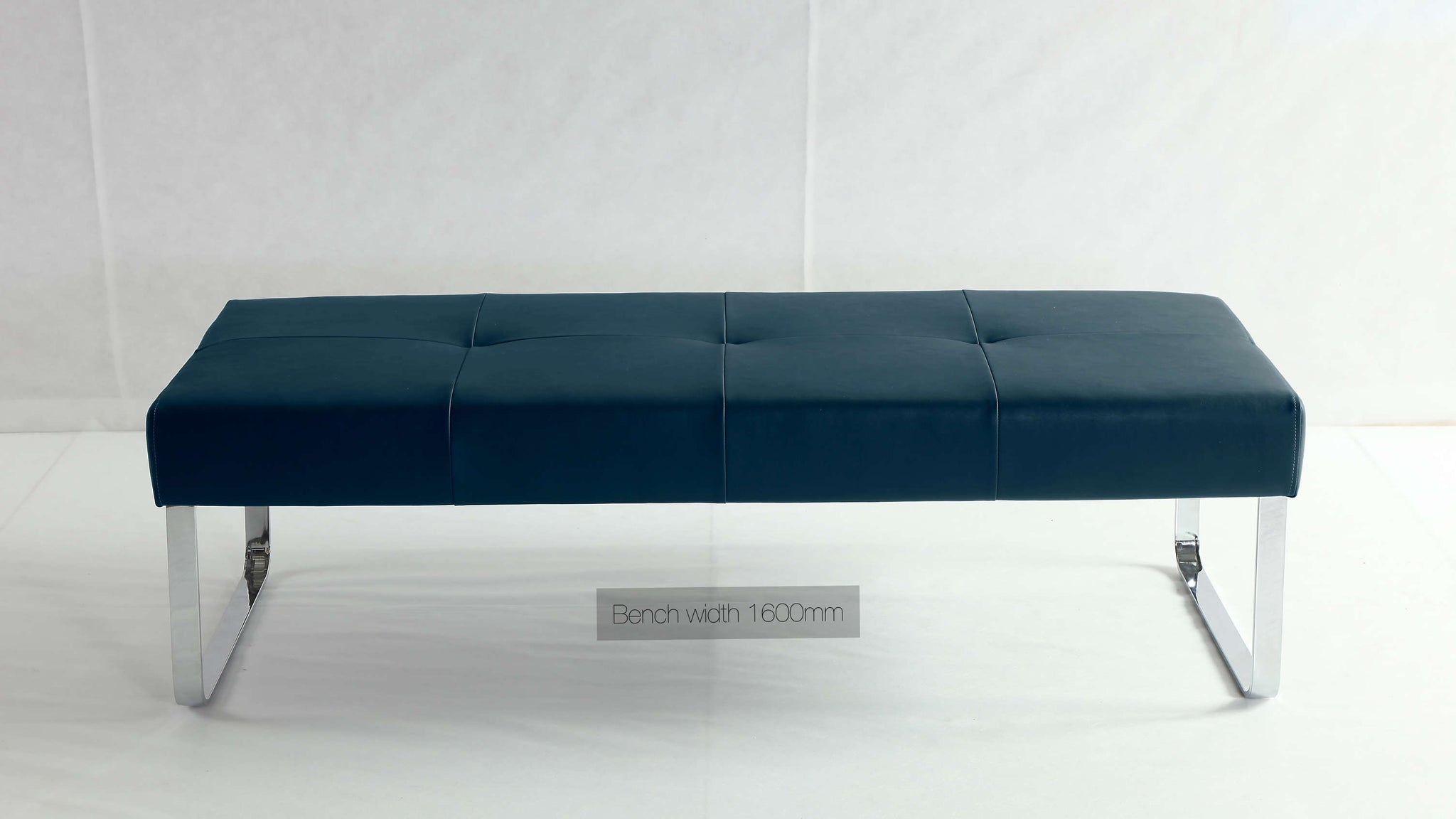 Large Dining Bench in Dark Blue