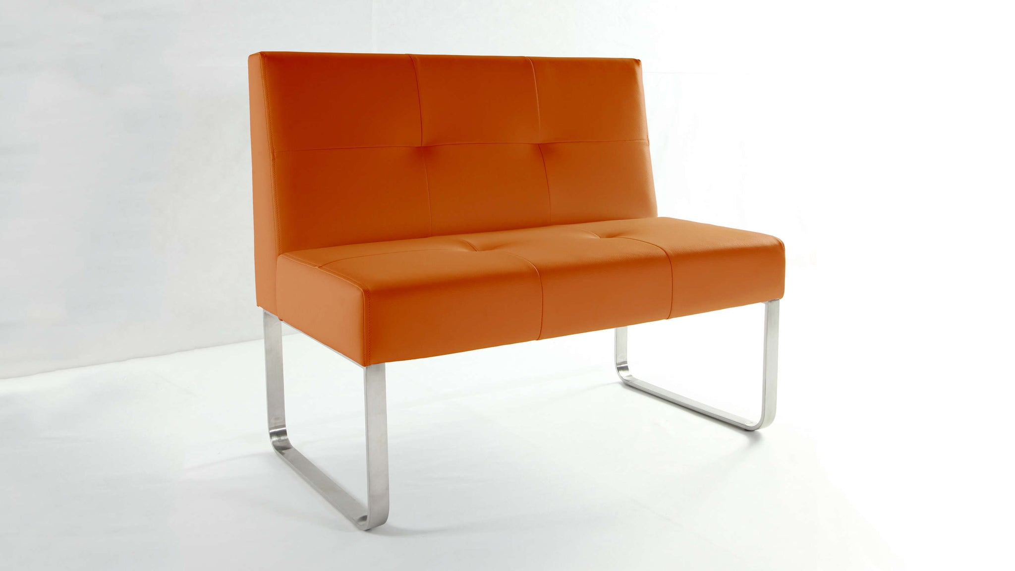 Stylish Orange Dining Bench