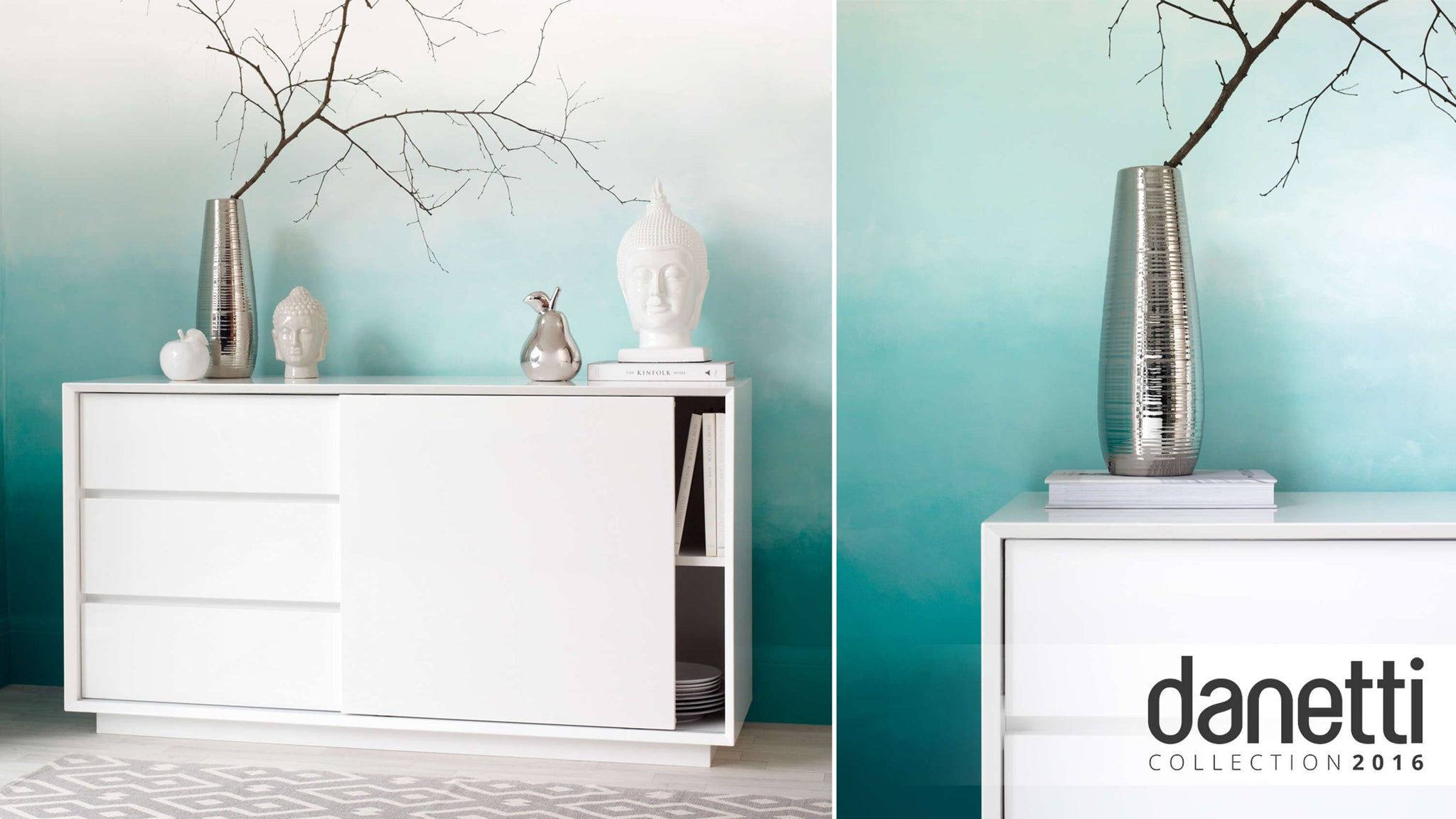 modern white gloss sideboard with drawers