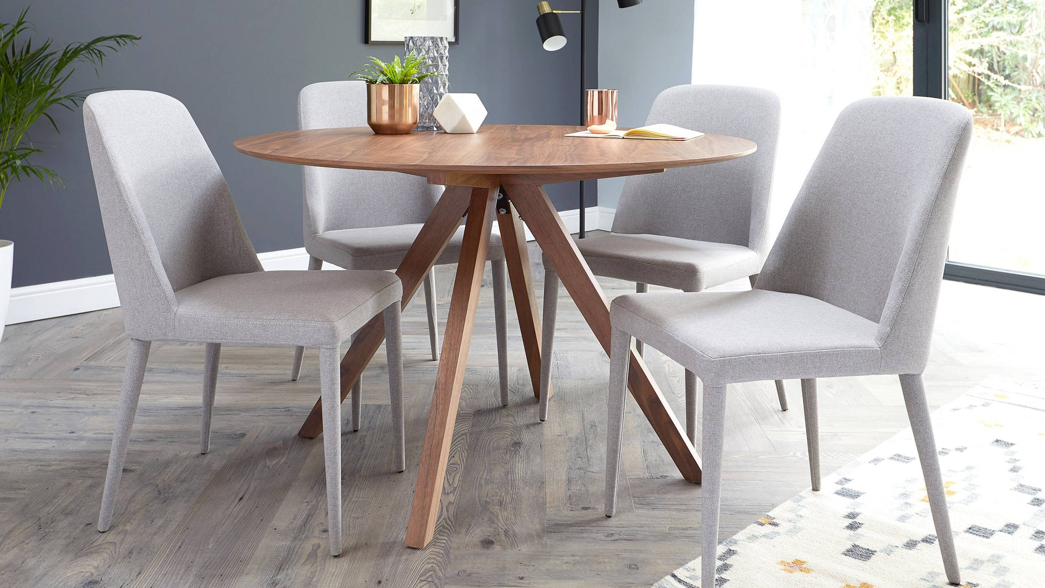 Buy comfortable fabric dining chairs