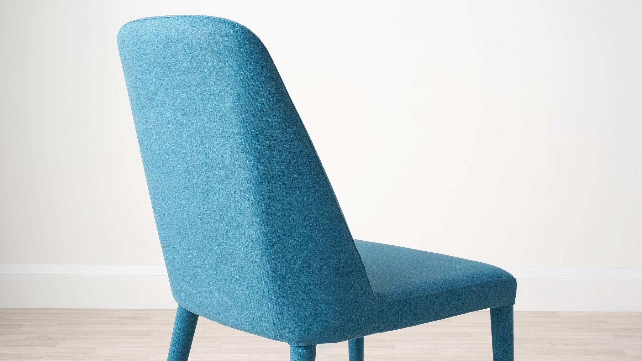 Teal fabric melange dining chair