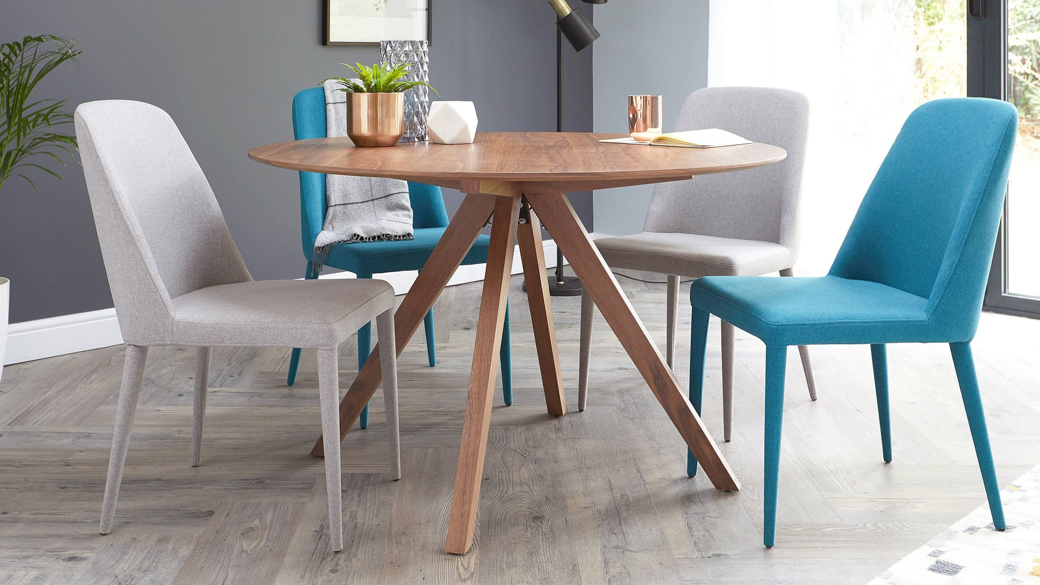 Buy mix and match colourful dining chairs