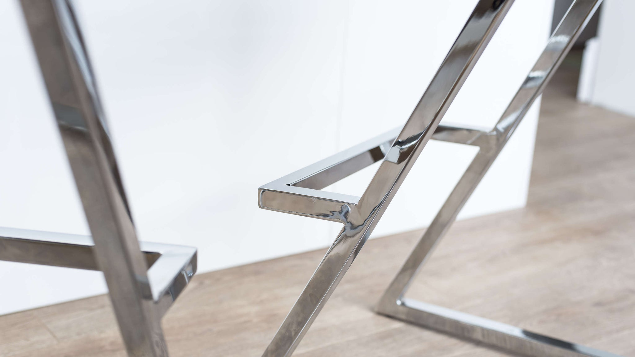 Stylish Chrome Bar Stool with Foot Rest