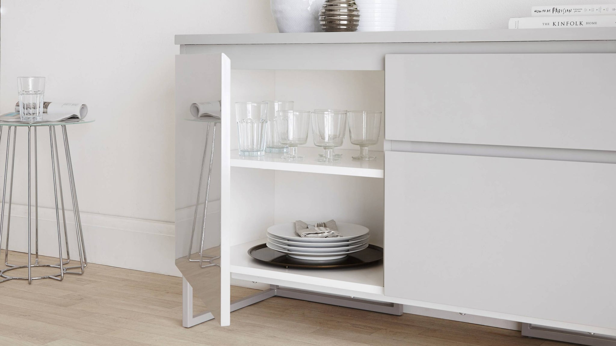 Grey Reflective Affordable Sideboard